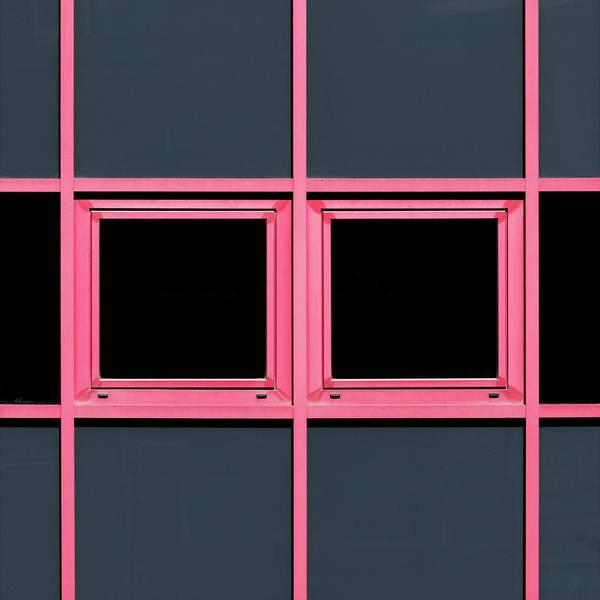 Urban Art Print featuring the photograph Pink Grid by Stuart Allen