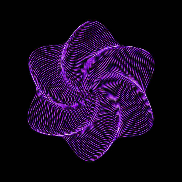 Polar Flower Art Print featuring the digital art Polar Flower Vib by Robert Krawczyk