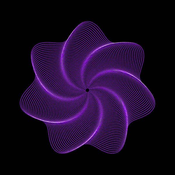 Polar Flower Art Print featuring the digital art Polar Flower Viib by Robert Krawczyk