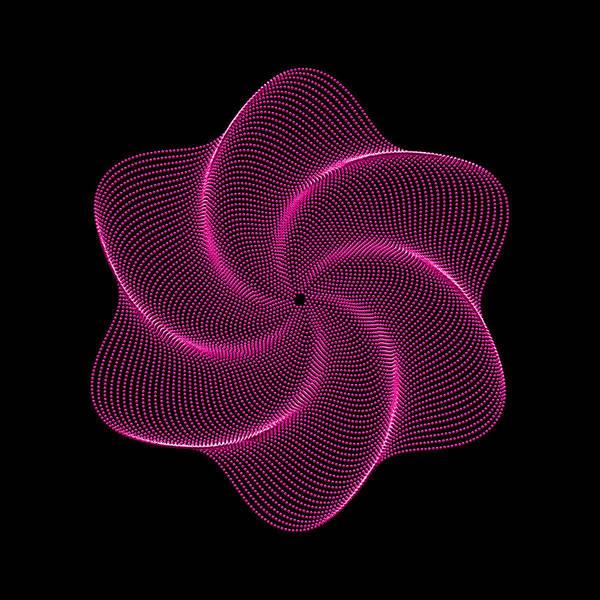 Polar Flower Art Print featuring the digital art Polar Flower Vir by Robert Krawczyk