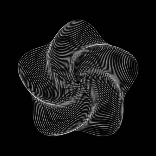 Polar Flower Art Print featuring the digital art Polar Flower Vk by Robert Krawczyk