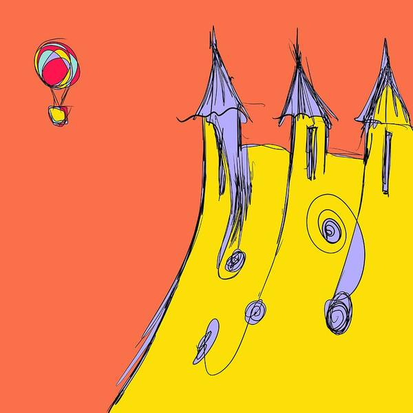 Balloon Art Print featuring the drawing Popping In For A Visit by Jason Nicholas