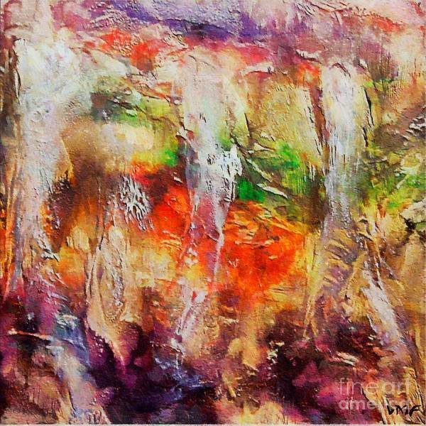 Cave Art Print featuring the painting Postojna Cave by Dragica Micki Fortuna