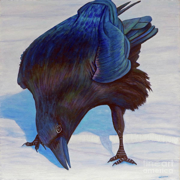 Raven Art Print featuring the painting Que Pasa by Brian Commerford