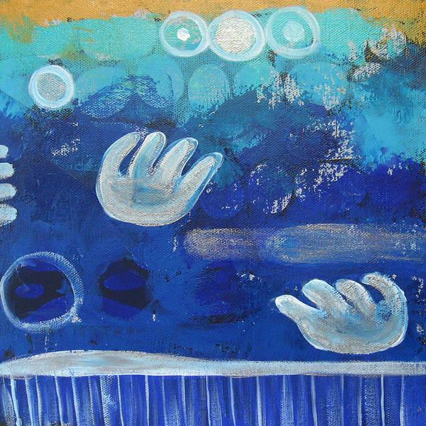 Rain Art Print featuring the painting Rainy Season by Aliza Souleyeva-Alexander