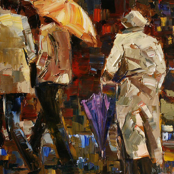 Umbrellas Art Print featuring the painting Rainy Season by Debra Hurd