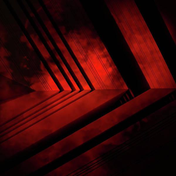Red Art Print featuring the digital art Red Arrow by David BERNARD
