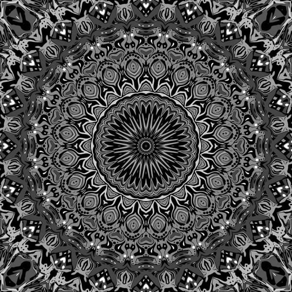 Digital Art Print featuring the digital art Regalia Black And White No. 4 by Joy McKenzie