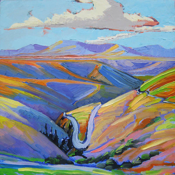 Landscape Art Print featuring the painting Reservation Roads by Gregg Caudell