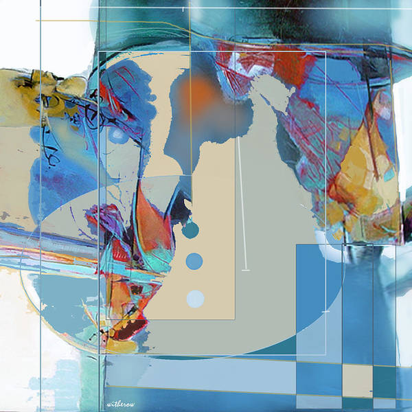 Abstract Art Print featuring the digital art Resist And Relax by Dale Witherow