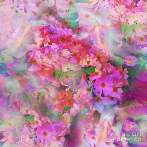 Rose Art Print featuring the painting Rose Devas by Glenyss Bourne