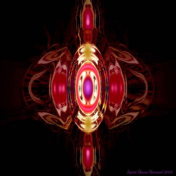 Angels Art Print featuring the digital art Ruby-- Gem Series by Spirit Dove Durand