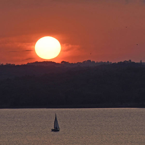 Sunset Sail Art Print featuring the photograph Sail Away by Don Spenner