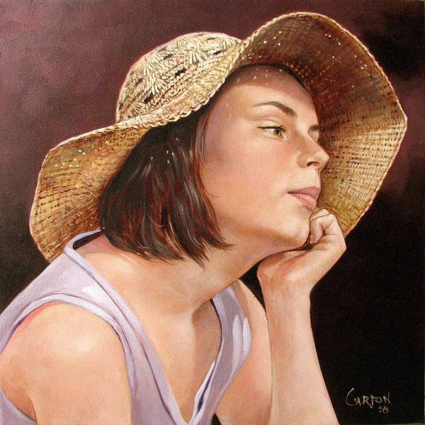Portrait Art Print featuring the painting Sammie by Jerrold Carton
