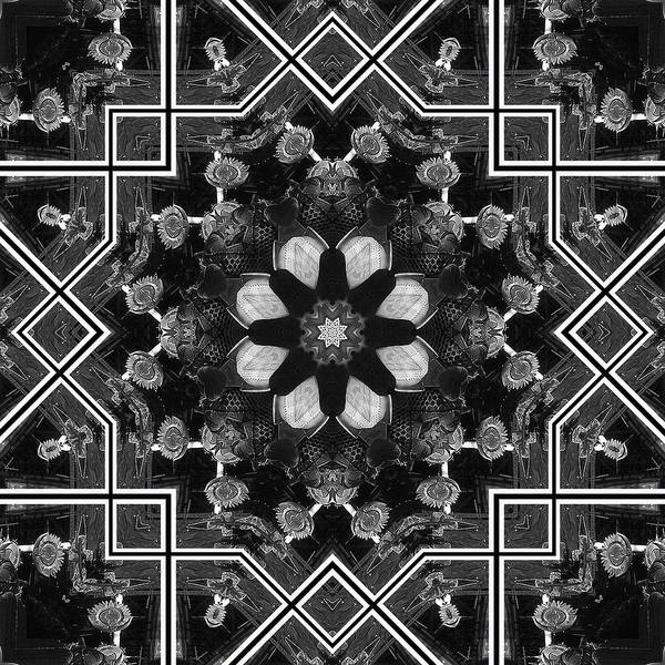 Kaleidoscope Art Print featuring the digital art Santa Fe Pottery Shop by Kathleen Stephens