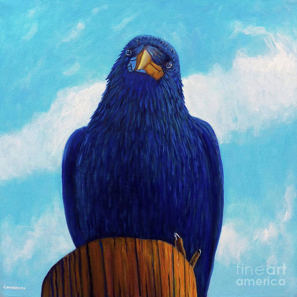 Raven Art Print featuring the painting Santa Fe Smile by Brian Commerford