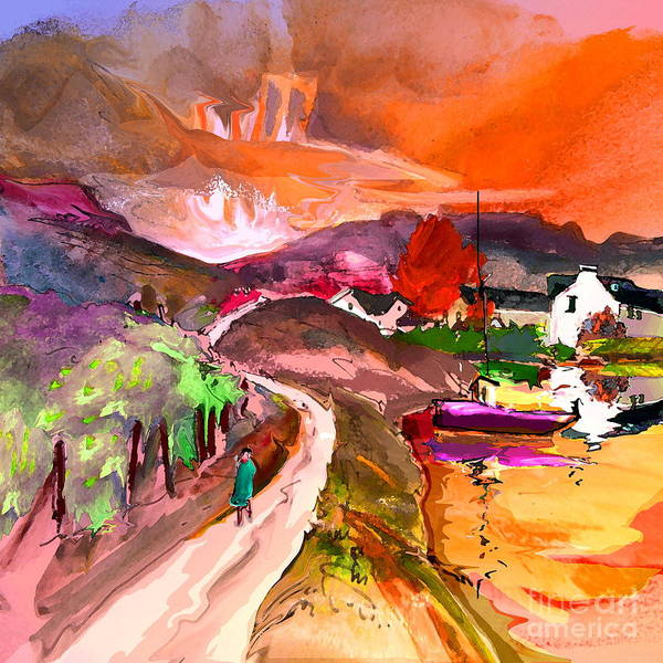 Scotland Paintings Art Print featuring the painting Scotland 02 by Miki De Goodaboom