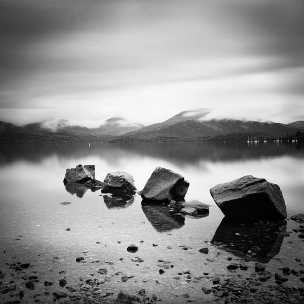 Scotland Art Print featuring the photograph Scotland Lomond Rocks by Nina Papiorek
