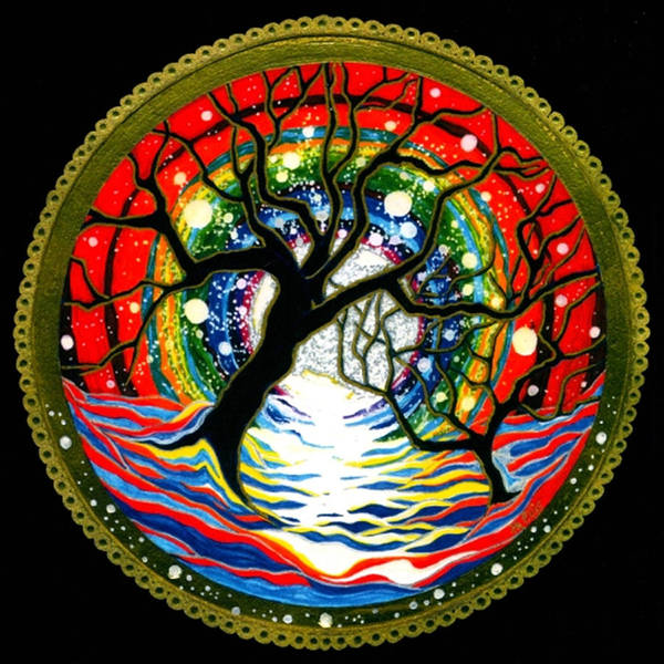 Spiritual Meditative Mandala Art Print featuring the painting Sea Of Color by Pam Ellis