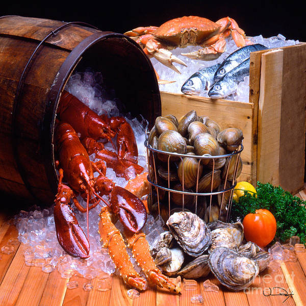 Lobster Art Print featuring the photograph Seafood Fresh by Vance Fox