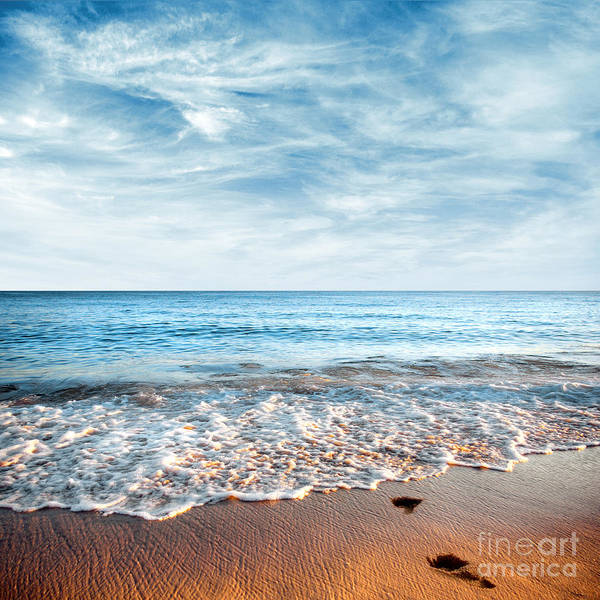 Background Print featuring the photograph Seashore by Carlos Caetano