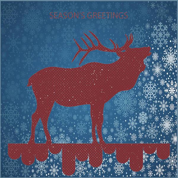 Seasonal Greetings Art Art Print featuring the digital art Seasonal Greetings Artwork by OLena Art Brand