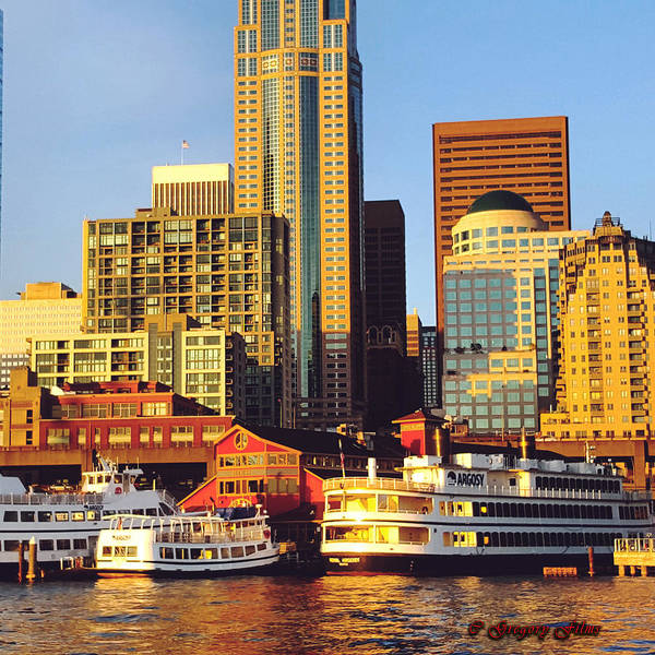 Seattle Art Print featuring the photograph Seattle Waterfront by Curtis Gregory