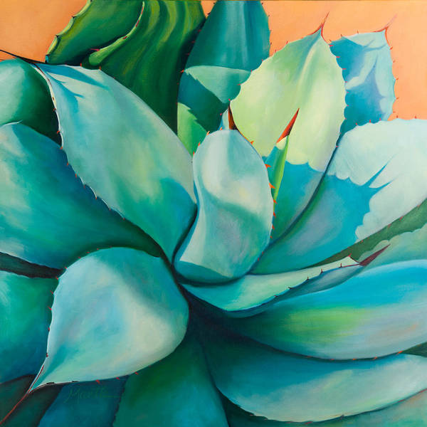 Agave Art Print featuring the painting Shadow Dance 5 by Athena Mantle