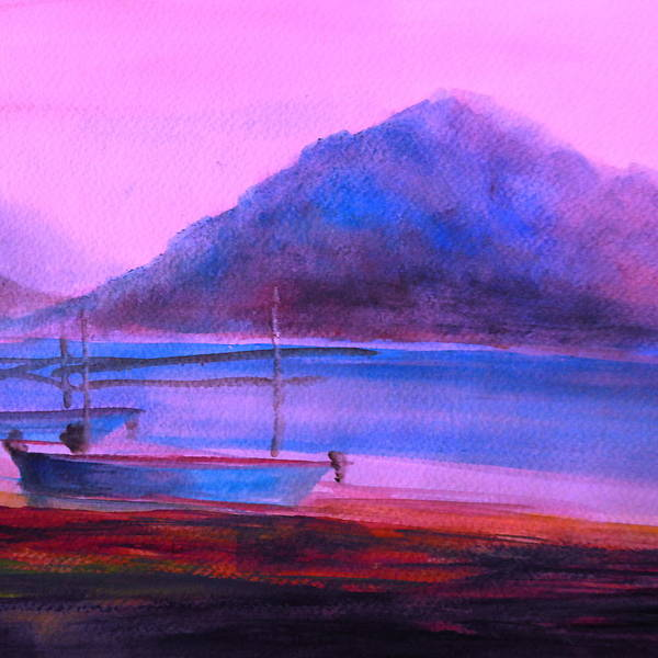 Landscape Art Print featuring the painting Shallow 07 by Pusita Gibbs