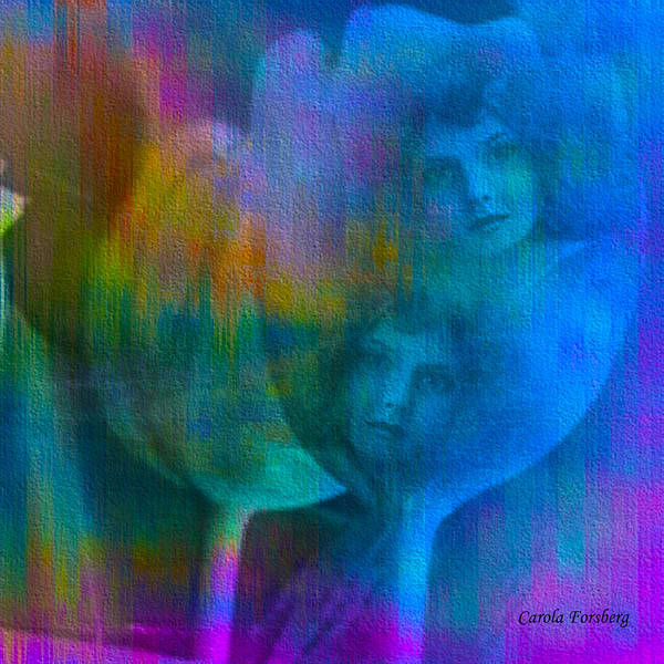Art Print featuring the digital art Sisters by Carola Ann-Margret Forsberg