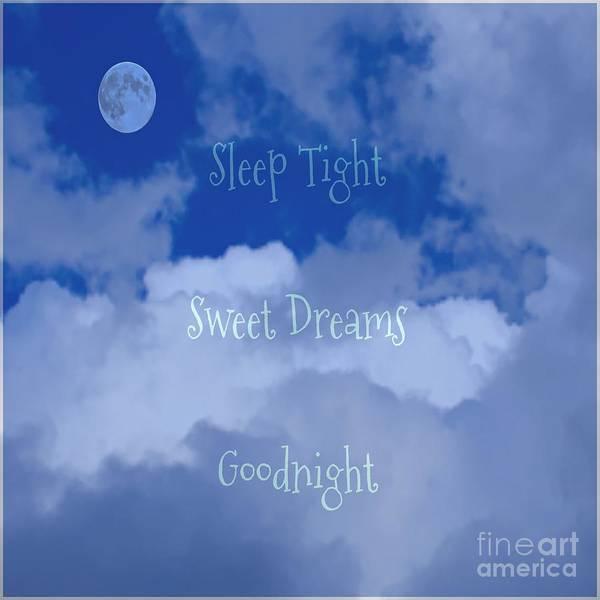 Sleep Tight Sweet Dreams Goodnight Moon Art Print