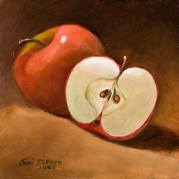 Apple Art Print featuring the painting Sliced Apple by Joni Dipirro