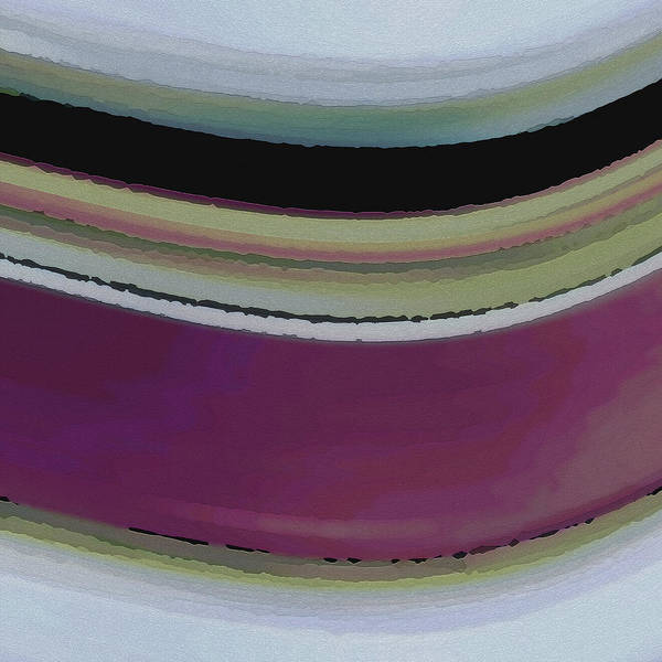 Abstract Art Print featuring the digital art Slight Curve by Ruth Palmer