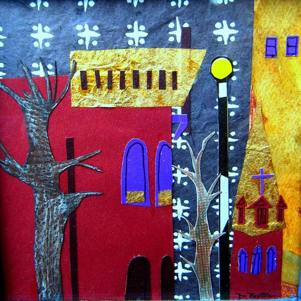 City Art Print featuring the mixed media Snowstorm Backbay by Debra Bretton Robinson