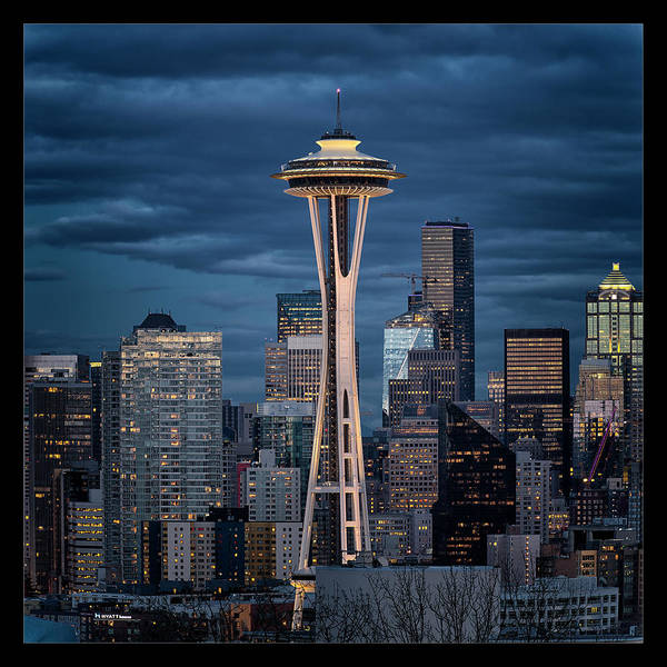 Seattle Art Print featuring the photograph Space Needle by Robert Fawcett