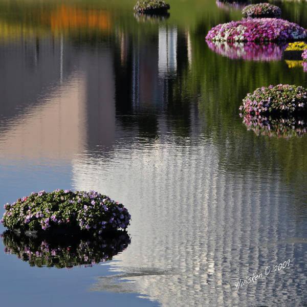 Epcot Art Print featuring the photograph Spaceship Earth Reflection by Lyle Huisken