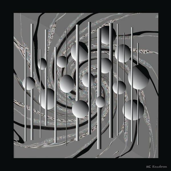 Modern Art Print featuring the digital art Speared by ME Kozdron