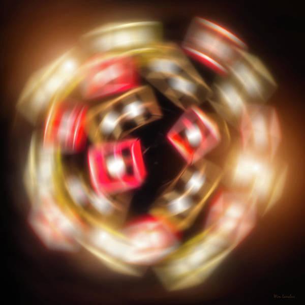 Sphere Art Print featuring the digital art Sphere Of Light by Wim Lanclus