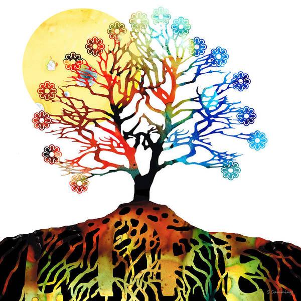 Tree Art Print featuring the painting Spiritual Art - Tree Of Life by Sharon Cummings