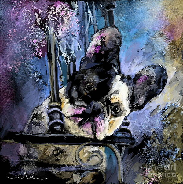 Dog Painting Art Print featuring the painting Spok by Miki De Goodaboom