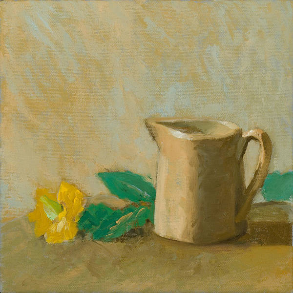Still Life Art Print featuring the painting St. John's Wort At The End Of Summer by Karen Kappe Nugent