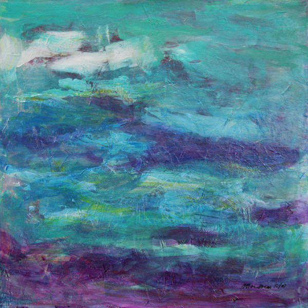Abstract Art Print featuring the painting Stream by Mordecai Colodner