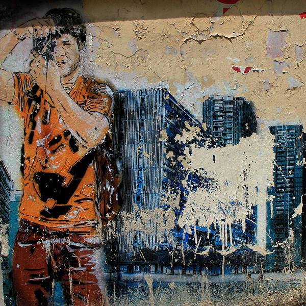 Paris Art Print featuring the photograph Street Art 3 by Andrew Fare