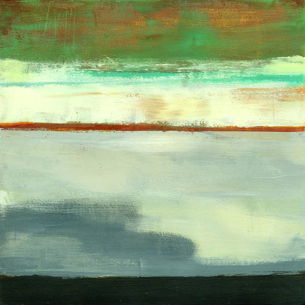 Abstract Art Art Print featuring the painting Stripe Landscape 1 by Jane Davies