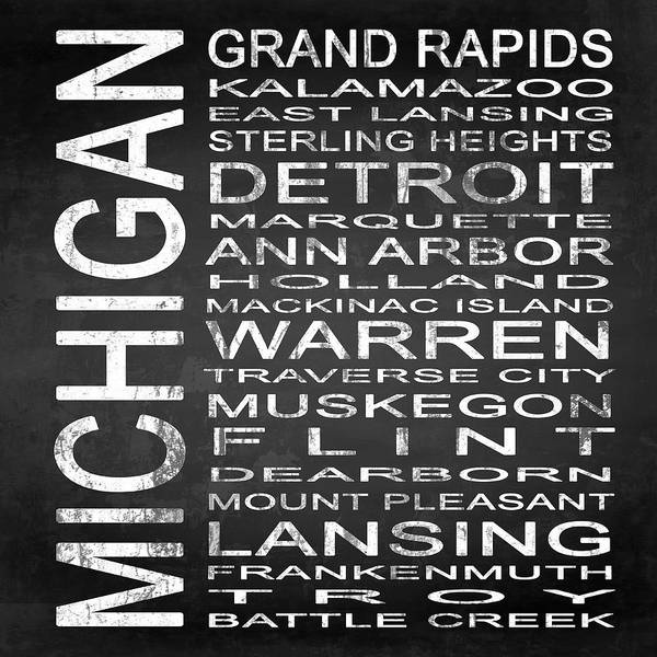 Subway Sign Art Print featuring the digital art Subway Michigan State Square by Melissa Smith