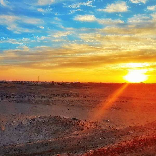 Sunset Art Print featuring the photograph Sunset In Egypt by Usman Idrees