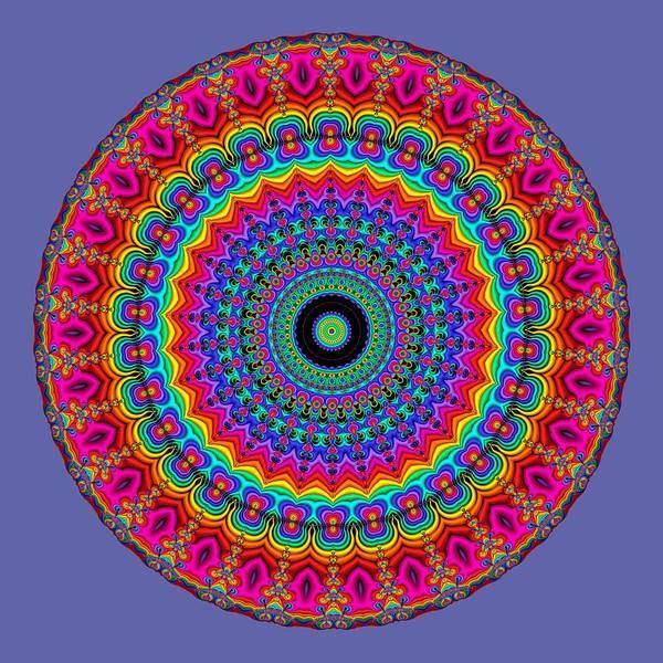 Rainbow Art Print featuring the digital art Super Rainbow Mandala by Ruth Moratz