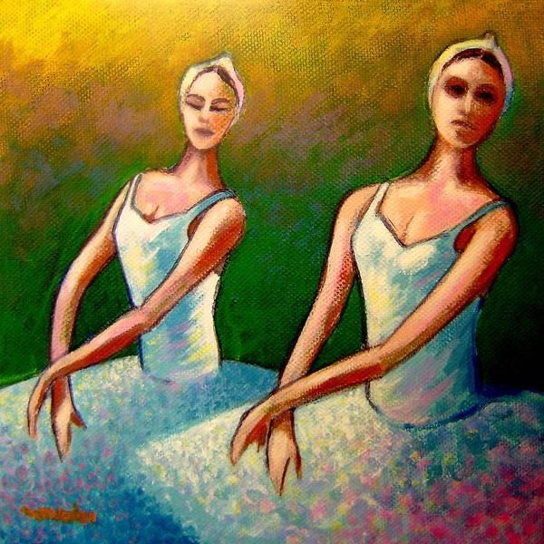 Swan Lake Ballet Art Print featuring the painting Swan Lake I by John Nolan