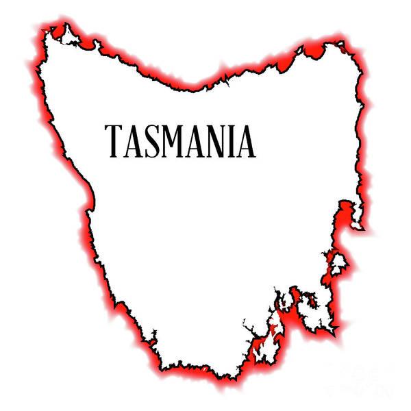Tasmania Art Print featuring the digital art Tasmania by Bigalbaloo Stock
