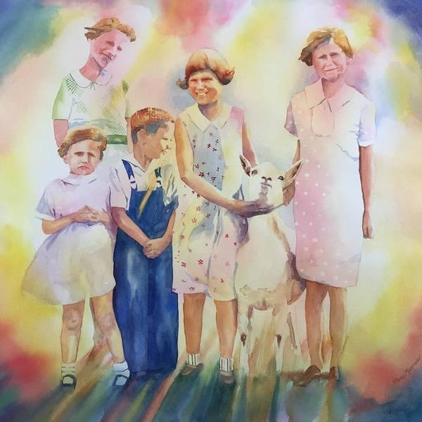 Tara Moorman Art Print featuring the painting The Kids And The Kid by Tara Moorman